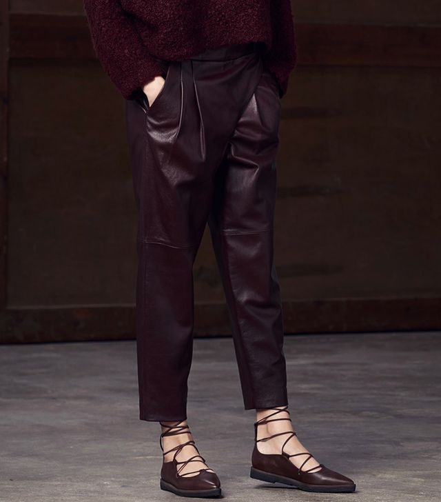 Tibi Pleated Wrap Pants