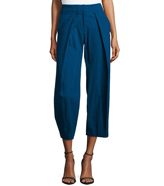 ZAC Zac Posen Parker Pleated-Front Trouser Pants
