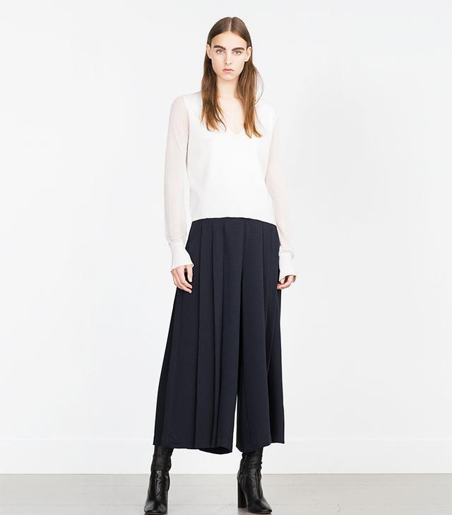 Zara Cropped Culottes