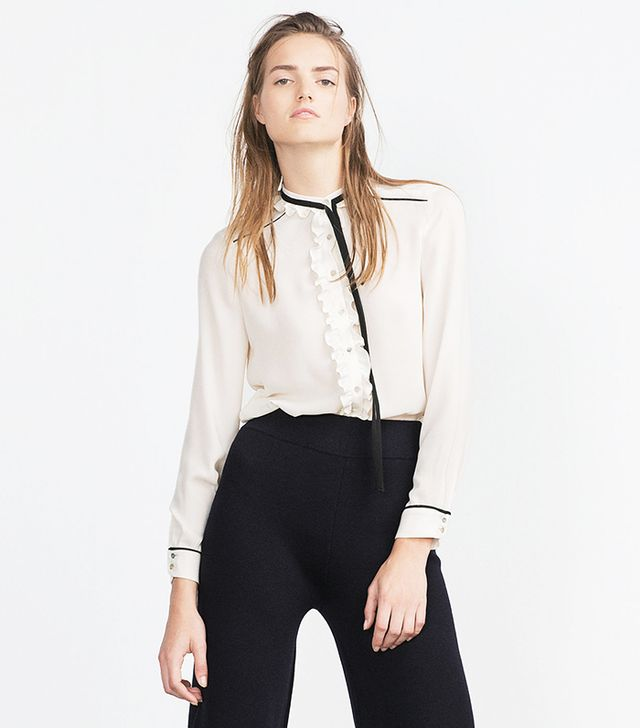 Zara Blouse with Tie Neck