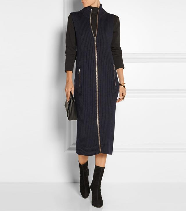 Acne Studios Benita Ribbed Wool Midi Dress