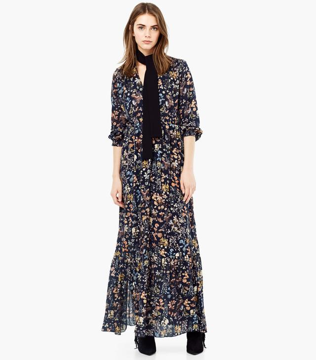 Mango Floral Print Gown