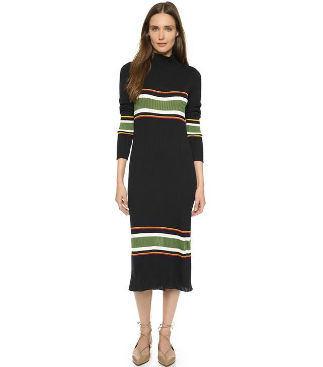 Suno Thick Stripe Rib Knit Dress