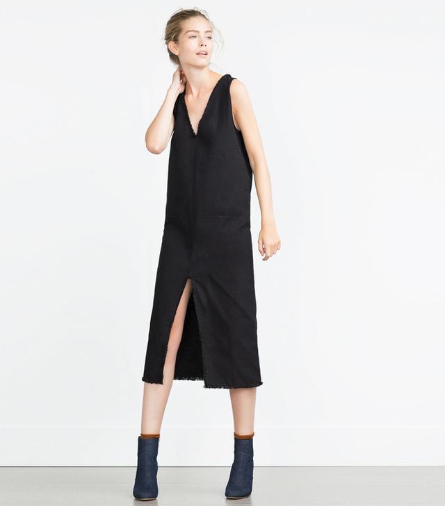 Zara Frayed Midi Dress