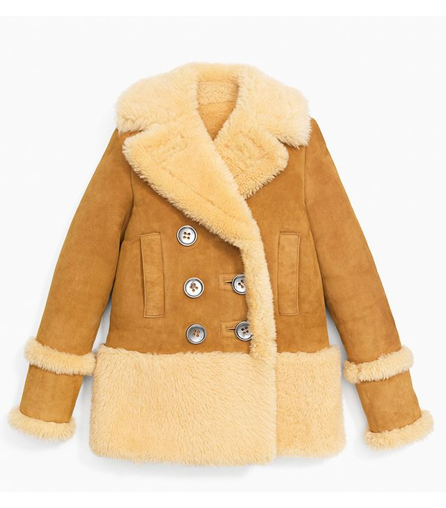Coach Shearling Peacoat