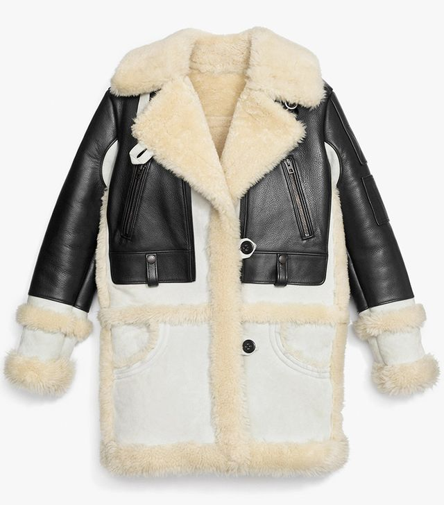 Coach Biker Sheepskin Coat