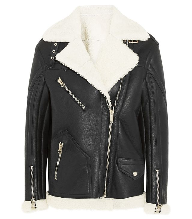 Golden Goose Deluxe Brand Fay Oversized Shearling Coat