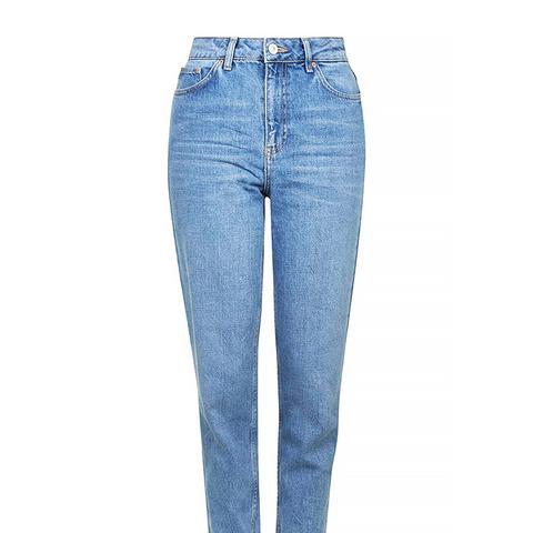 Moto Mid-Blue Mom Jeans