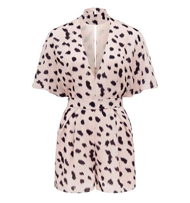 Kendall + Kylie at Forever New Selena Printed Keyhole Playsuit