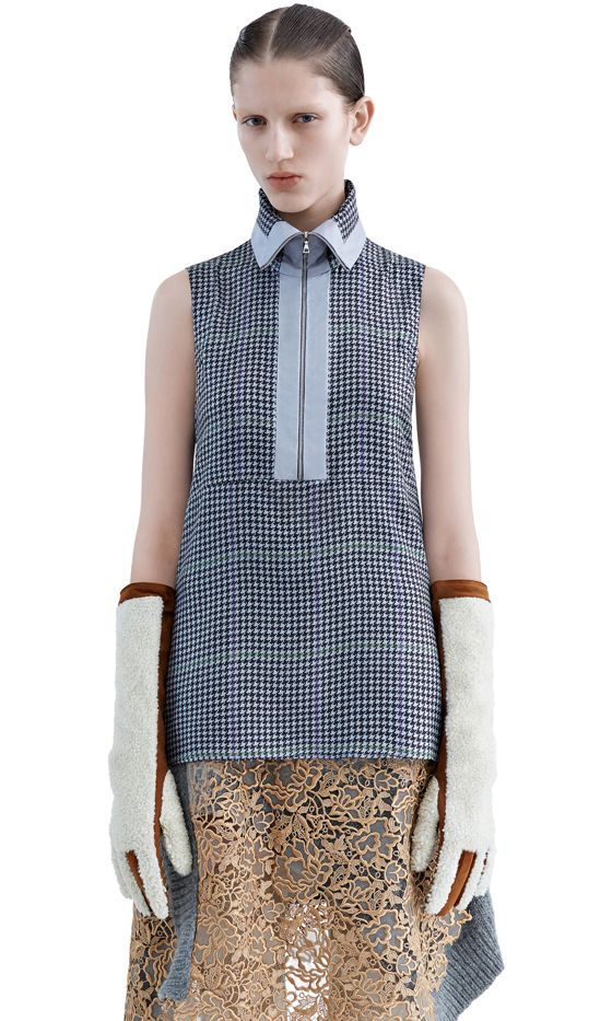 Acne Studios Chanay Pr Se Grey Over Check