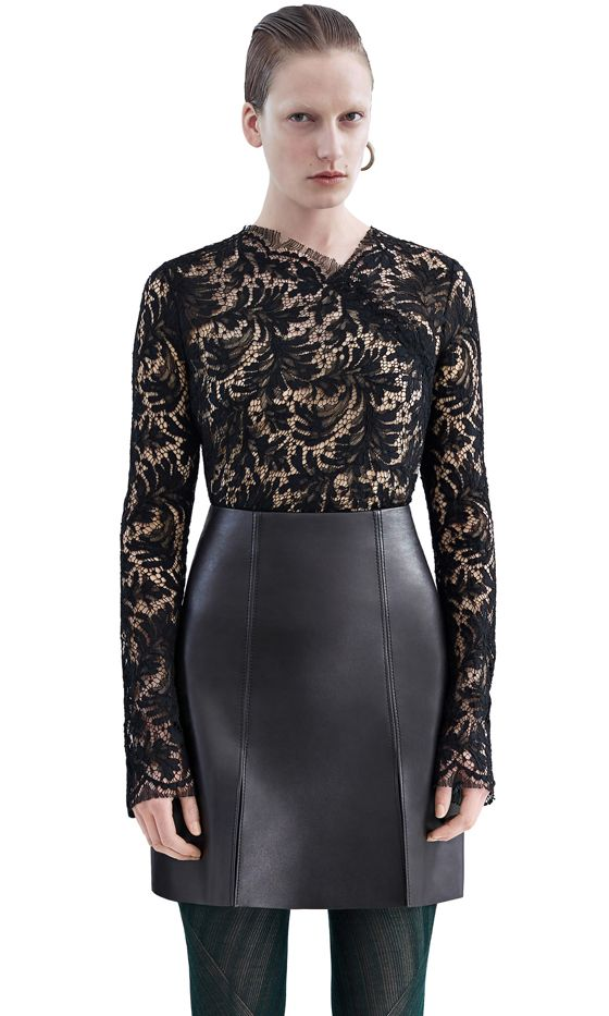 Acne Studios Clarita Leaf Lace in Black