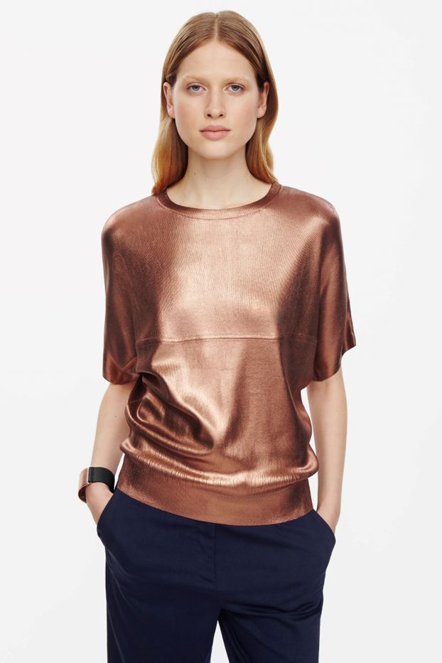 COS Metallic Coated Top