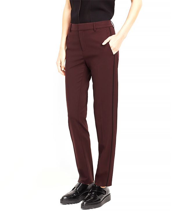 Vince Contrast Piping Side Strapping Trousers
