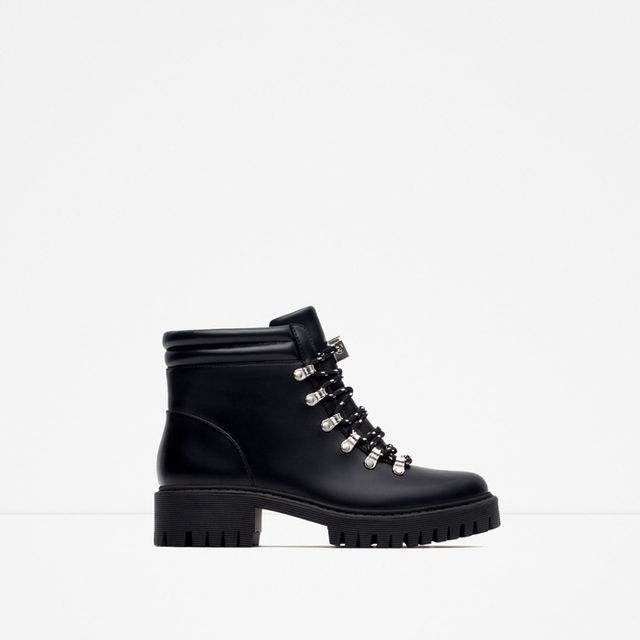 Zara Flat Mountain Boots