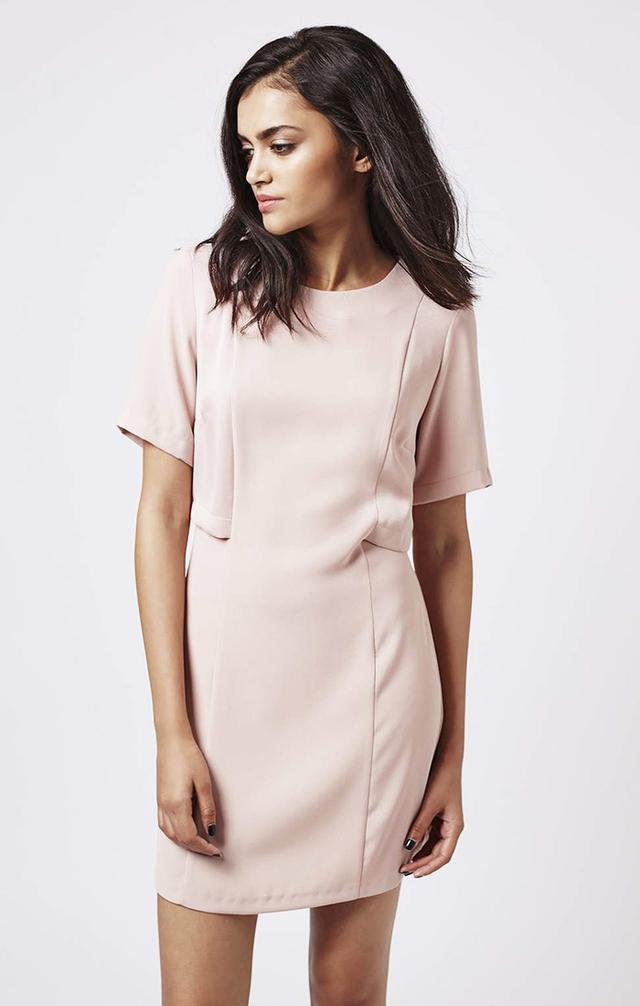 Topshop A-Line Overlay Dress
