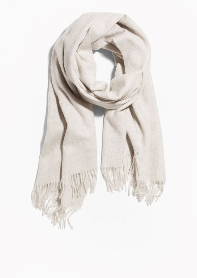 & Other Stories Oversized Wool Scarf