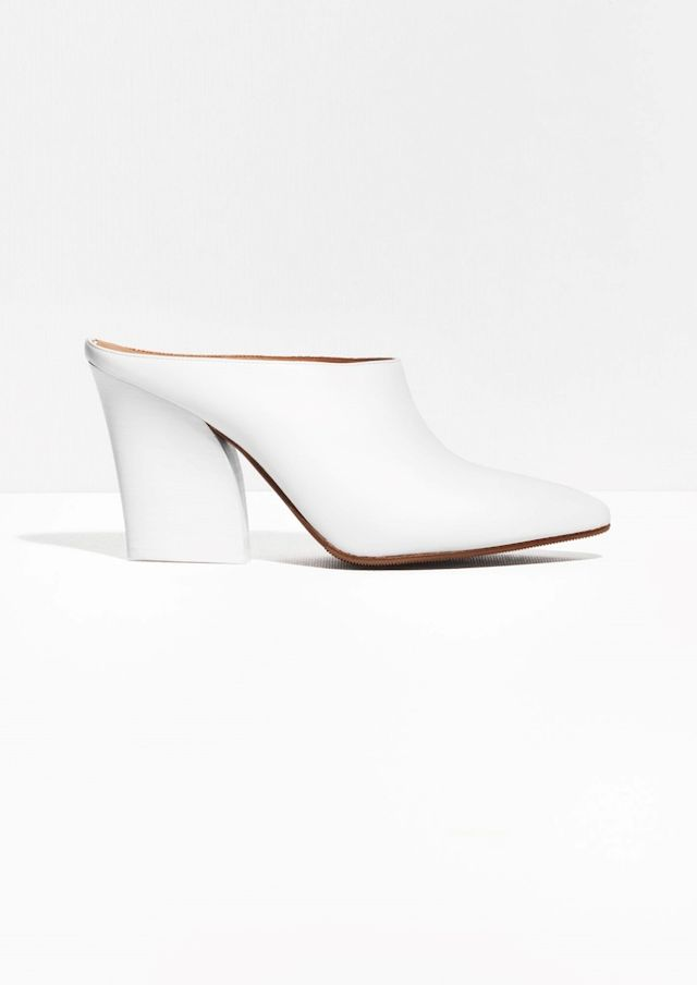 & Other Stories Heeled Leather Mules