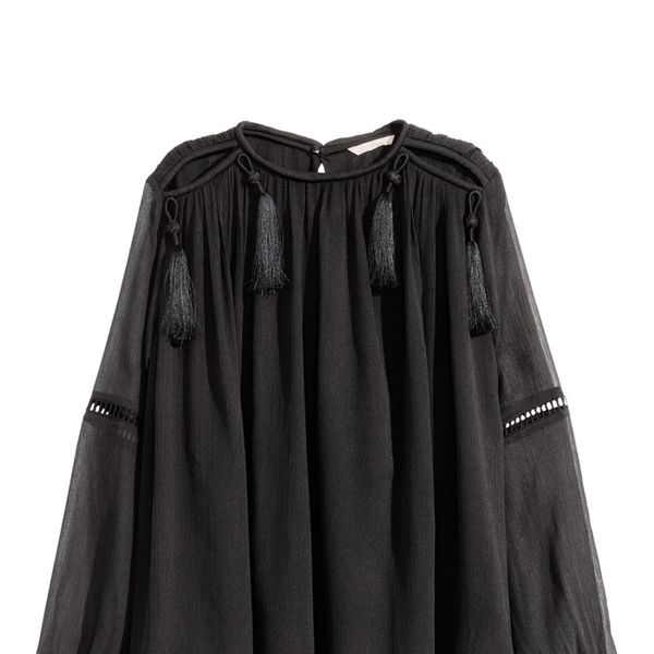 H&M Chiffon Blouse in Black
