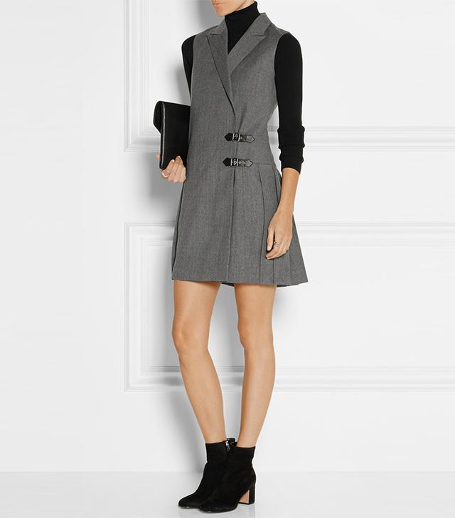 Marc by Marc Jacobs Pleated Wool Mini Dress