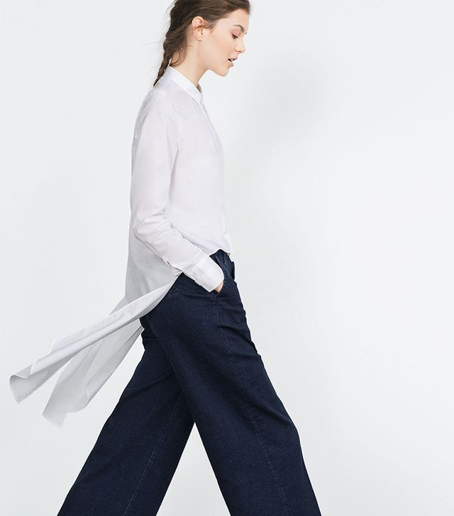 Zara Long Poplin Shirt