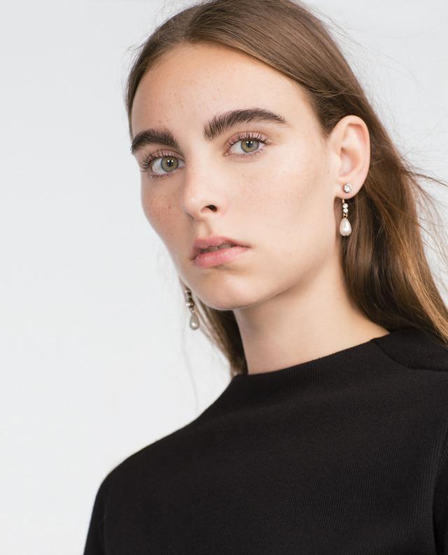 Zara Crystal and Pearl Earrings