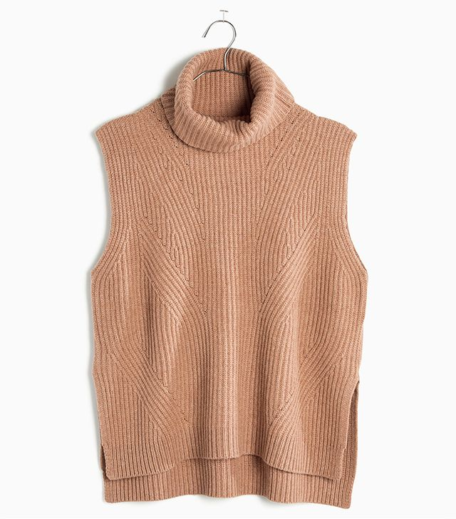 Madewell Contour Turtleneck Layering Vest