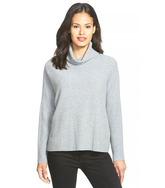 Eileen Fisher Boxy Cashmere Turtleneck Sweater