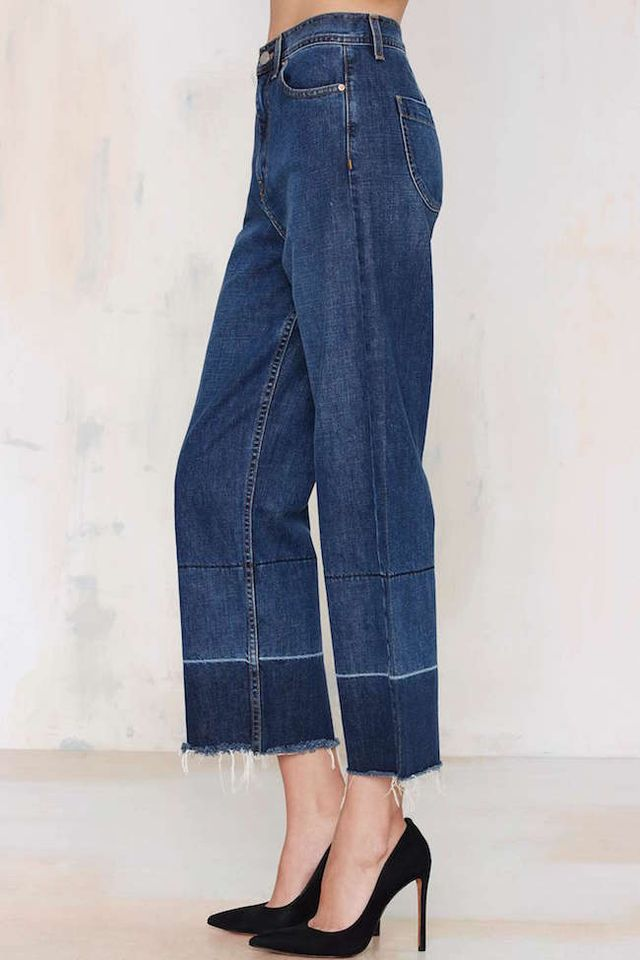 Nasty Gal Mad Crops Wide Leg Jean