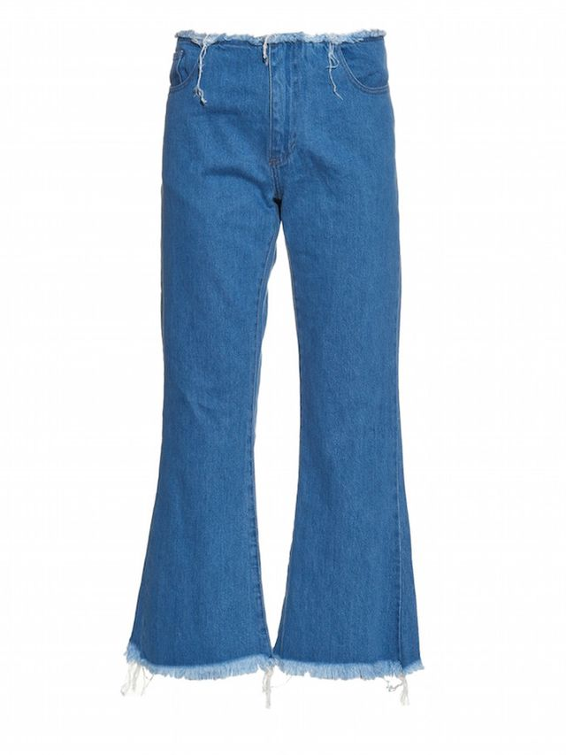 Marques'Almeida Capri Frayed-Edge Flared Jeans