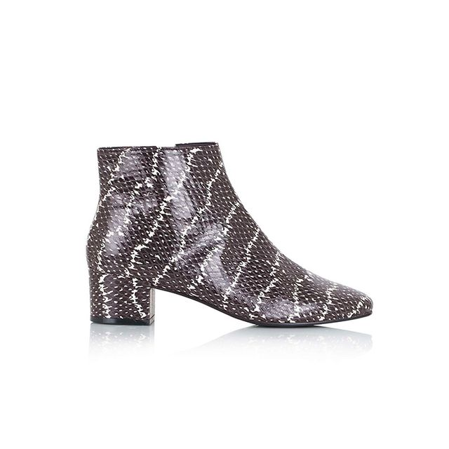 Topshop Betty Snake-Effect Boots