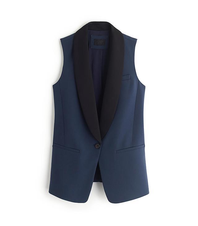 J.Crew Collection Tuxedo Vest