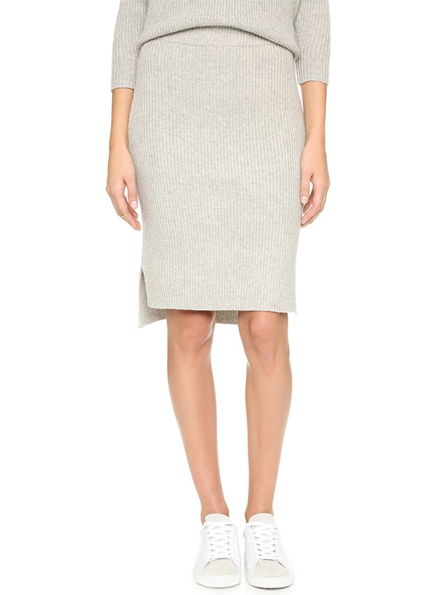 Madewell Bryn Ribbed Sweater Skirt