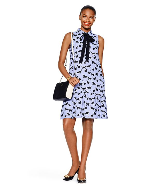 Kate Spade New York Cats and Cream Tiered Dress