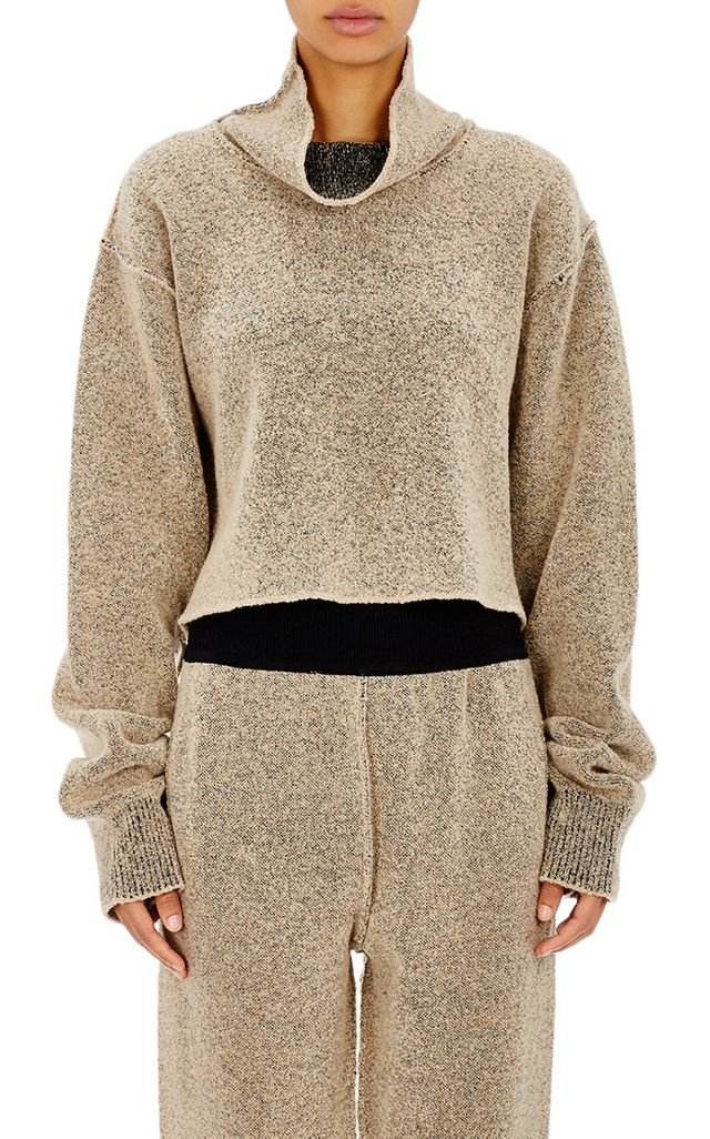 Adidas Originals by Kanye West Yeezy Season 1 Crop Boucle Turtleneck Sweater