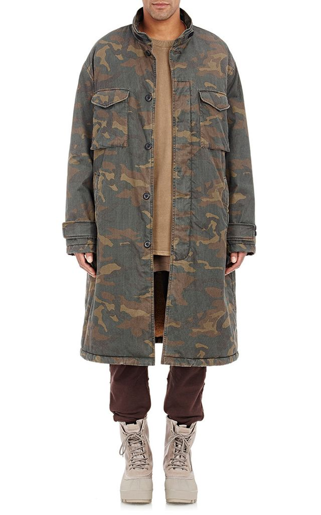 Adidas Originals by Kanye West Yeezy Season 1 Sherpa-Lined Camouflage Coat