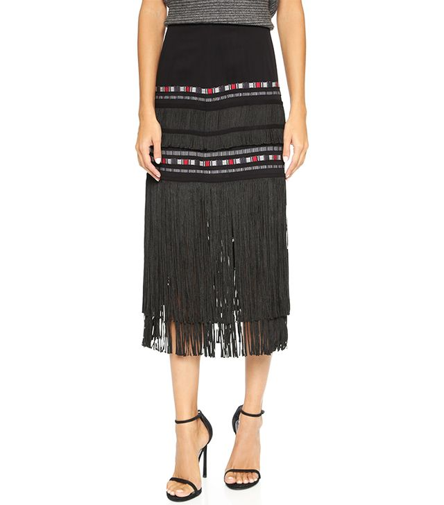 Twelfth St. by Cynthia Vincent Fringe Midi Skirt