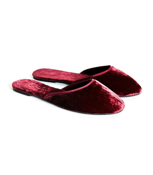 Urban Outfitters Velvet Slide Slippers
