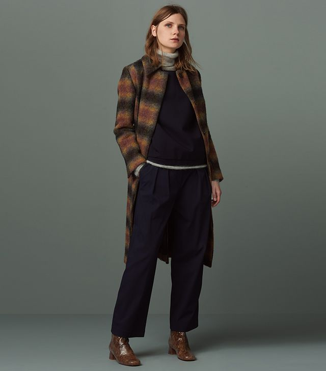 Finery Marshall Ombre Check Coat