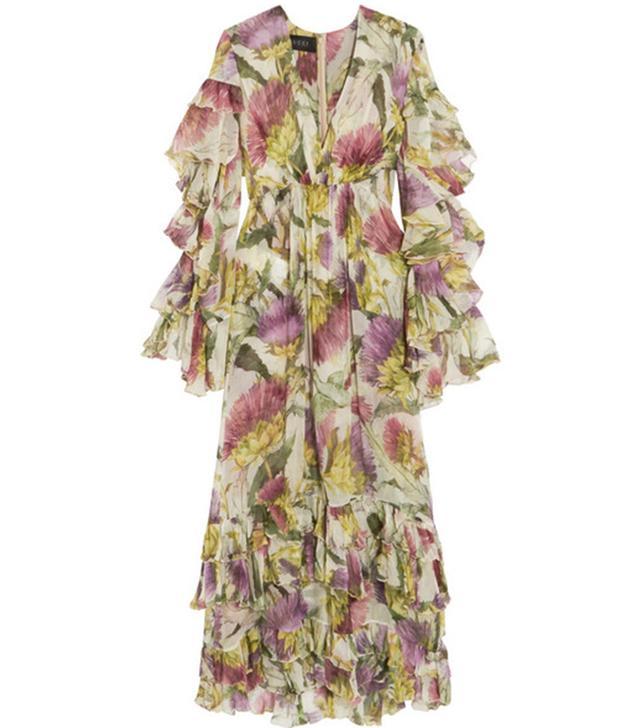 Gucci Printed Silk-Chiffon Dress