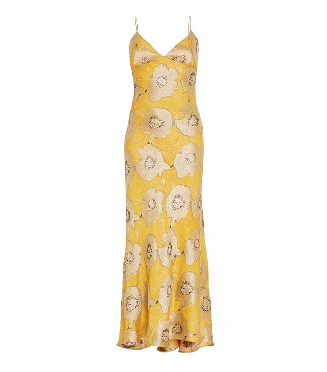 Brock Collection Floral Silk Jacquard Dehli Dress