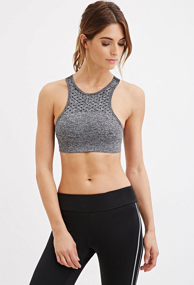 Forever 21 Low Impact Crisscross Back Sports Bra