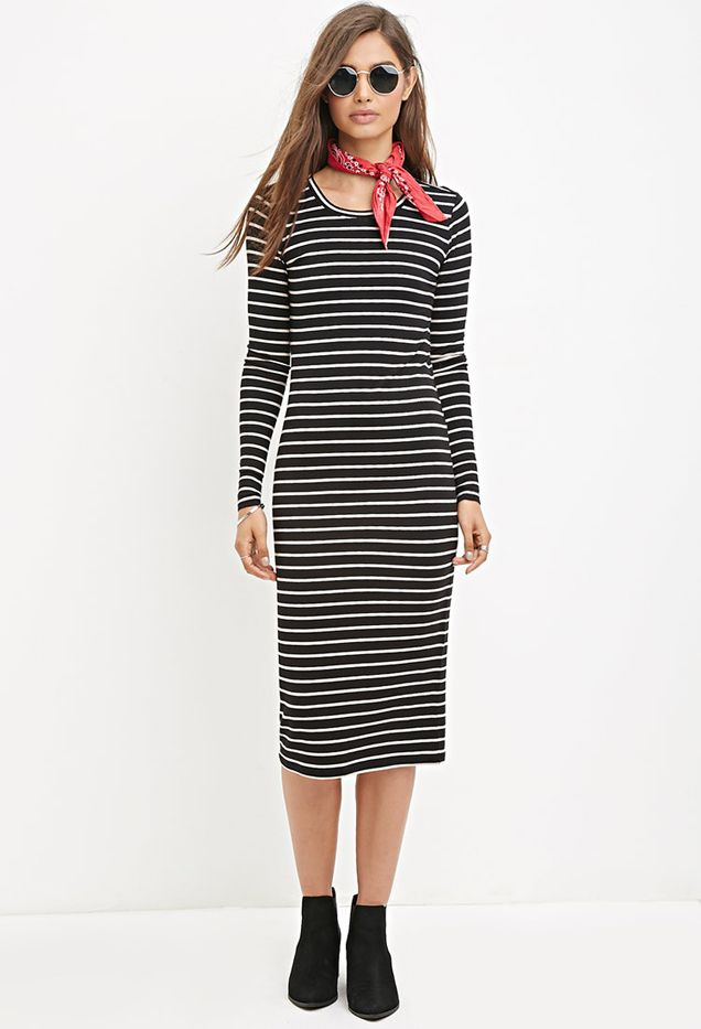 Forever 21 Striped Midi Dress