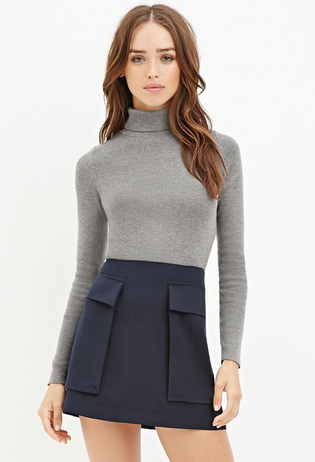 Forever 21 Flap Pocket Mini Skirt
