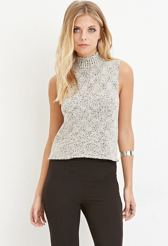 Forever 21 Contemporary Tonal Mock-Neck Sweater