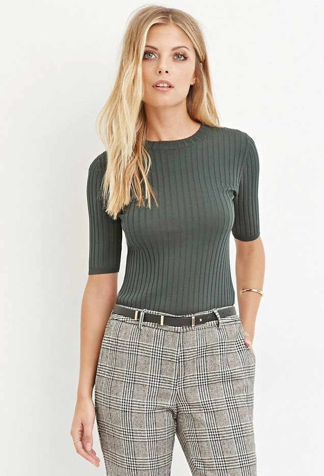 Forever 21 Contemporary Classic Ribbed Sweater