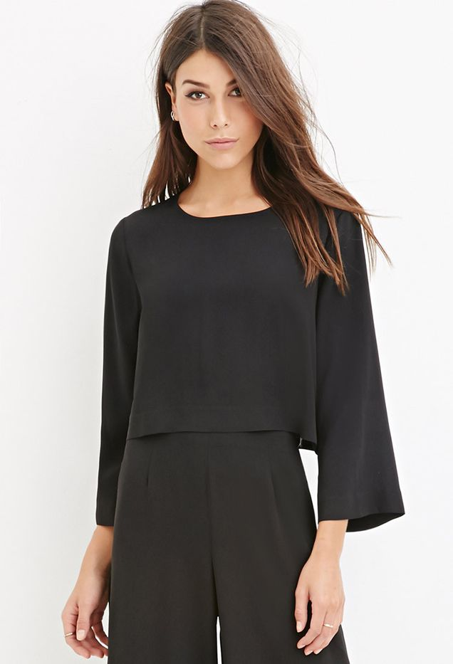 Forever 21 Contemporary Dolman-Sleeved Crop Top
