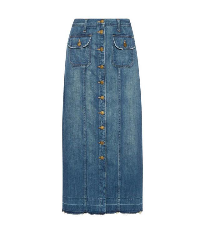 Current/Elliott The Sally Denim Maxi Skirt
