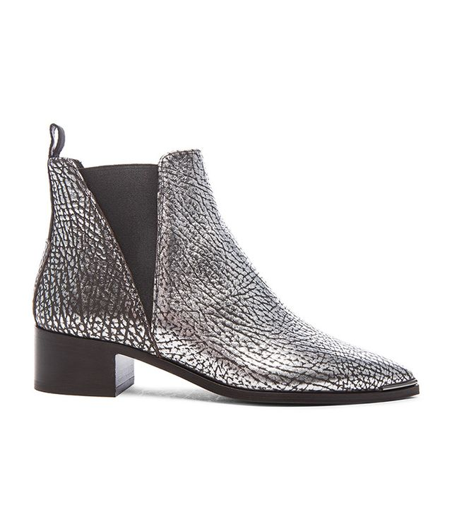 Acne Studios Metallic Leather Jensen Boots