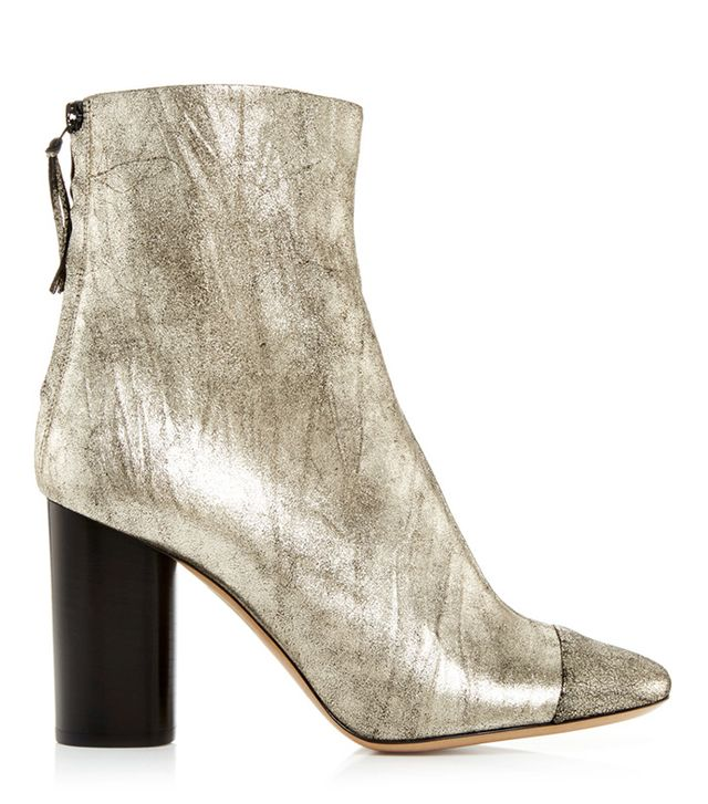 Isabel Marant Silver Goat Suede Grover Ankle Boots