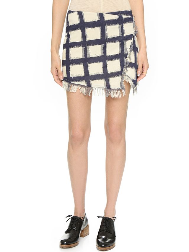 Twelfth St. by Cynthia Vinvent Mini Wrap Skirt